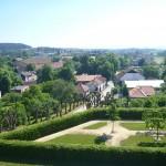 výhled na Kunštát od zámku